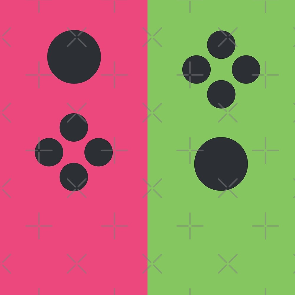 Joyful Controller Duo - Pink/Green by Pop-Fiction