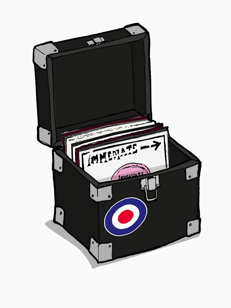 Retro Vinyl Singles Box - Mod Target by collibosher