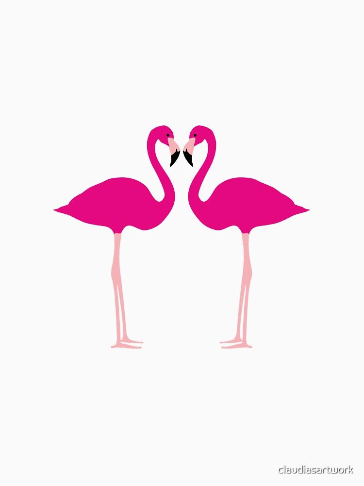 Flamingos by claudiasartwork