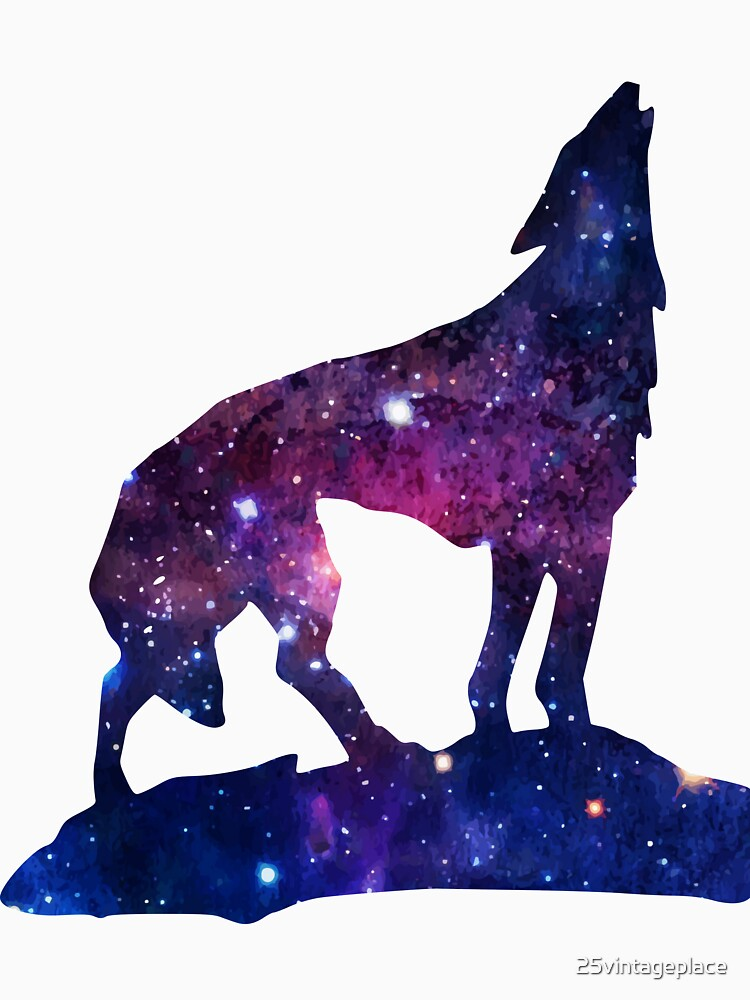 Galaxy Howling Wolf by 25vintageplace
