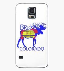 Colorful Breckenridge Colorado woodcut moose Case/Skin for Samsung Galaxy