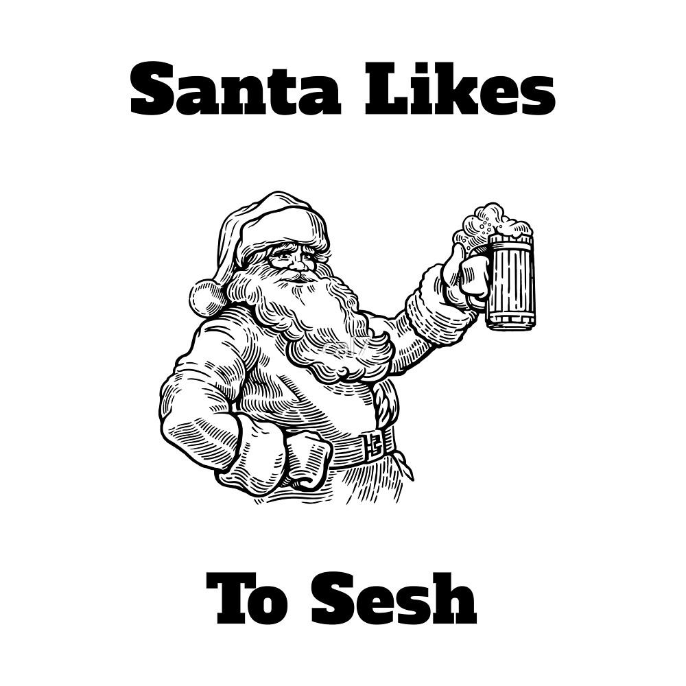 Santa Likes to Sesh by cal7
