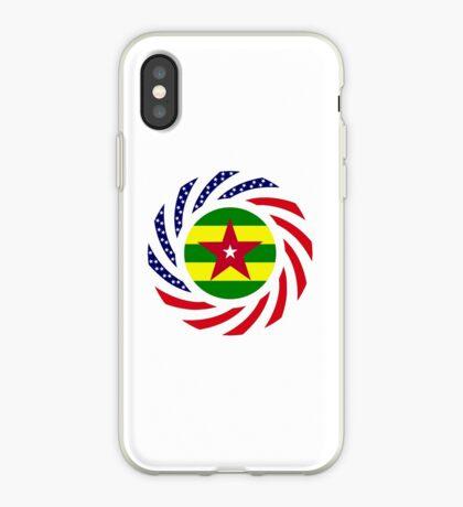 Togolese American Multinational Patriot Flag Series iPhone Case