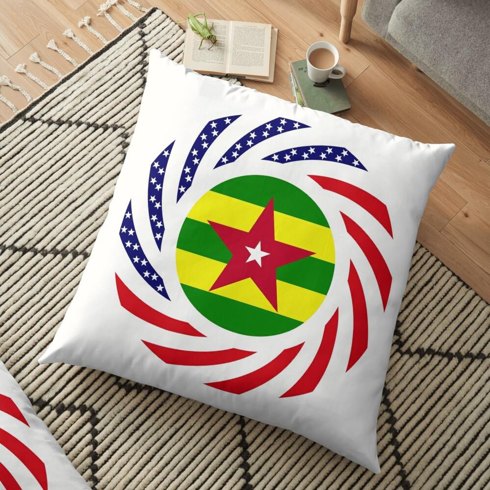 Togolese American Multinational Patriot Flag Series Floor Pillow