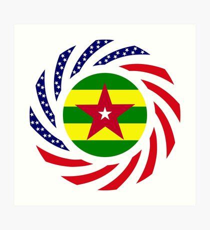 Togolese American Multinational Patriot Flag Series Art Print