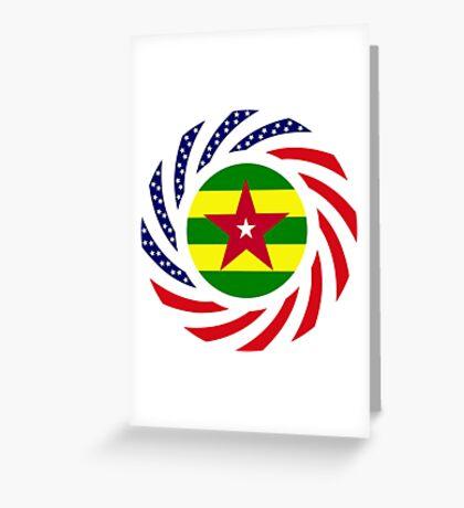 Togo American Multinational Patriot Flag Series Greeting Card
