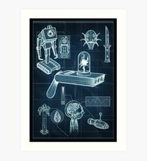 Rick and Morty - Schematic #1 Art Print