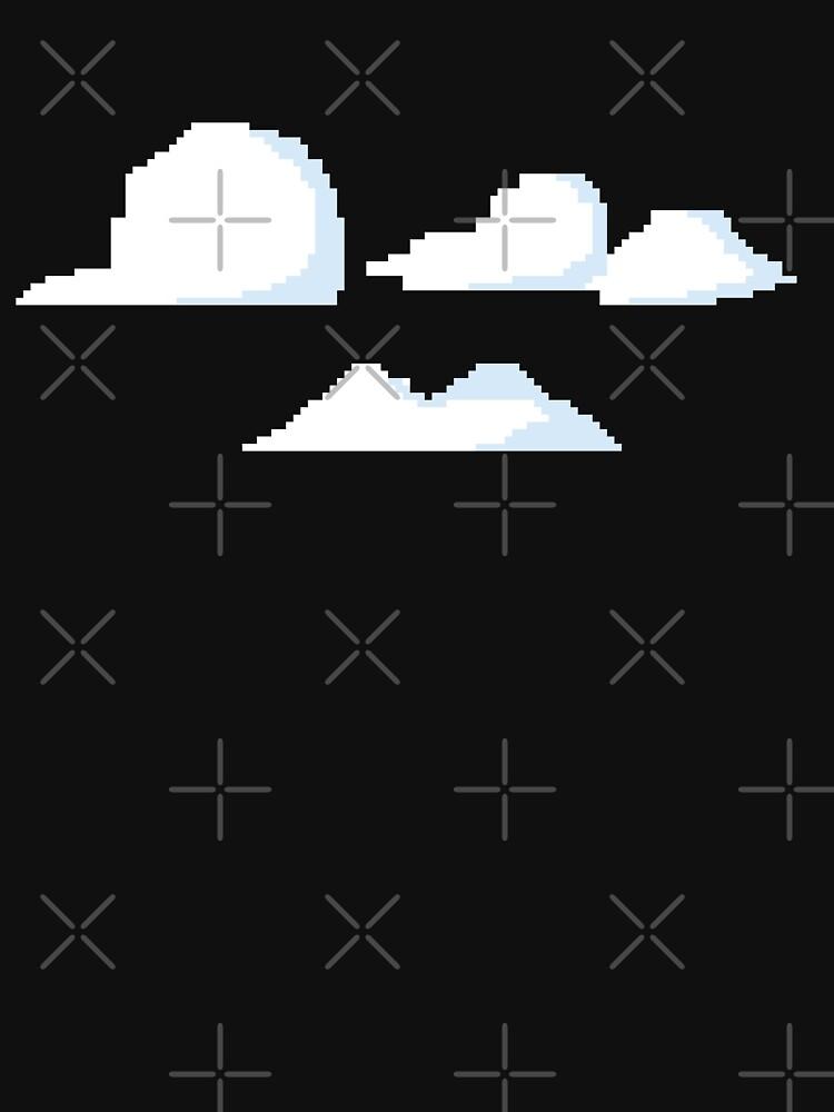 Clouds Pixel Graphic Art Work Design by JakOmar