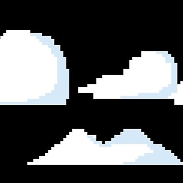 Clouds Pixel Graphic Art Work Design by JakOmar