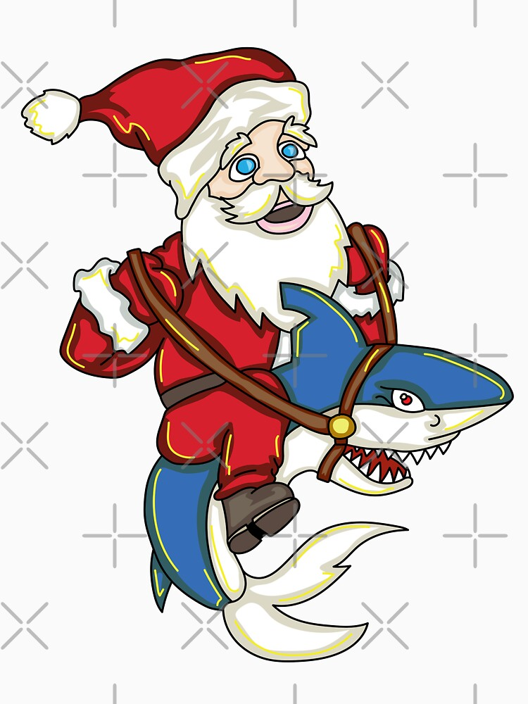 Santa Riding Shark by rkhy