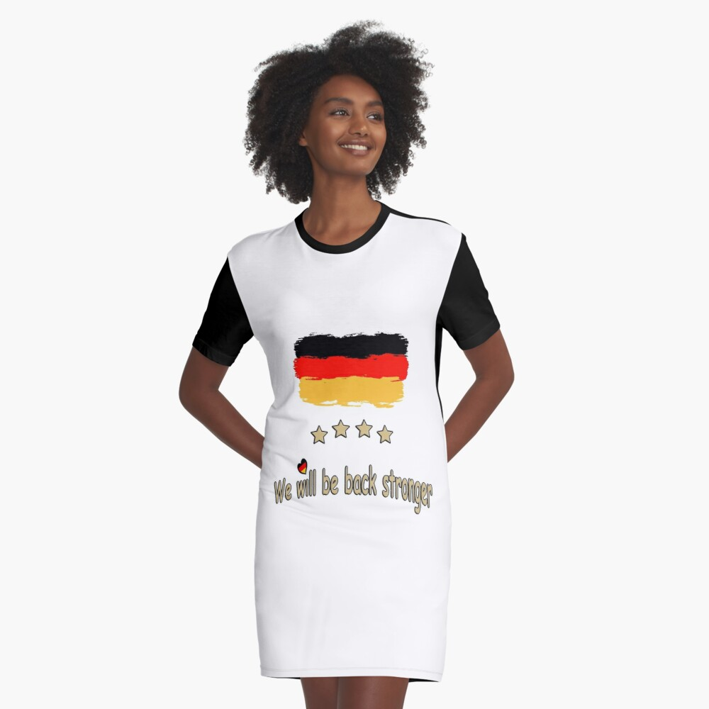 Germany Soccer Team Euro World Cup Fan Shirt Gift idea Graphic T-Shirt Dress Front