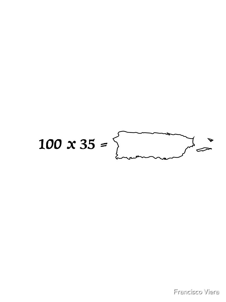100 x 35 = Puerto Rico  by Francisco Viera