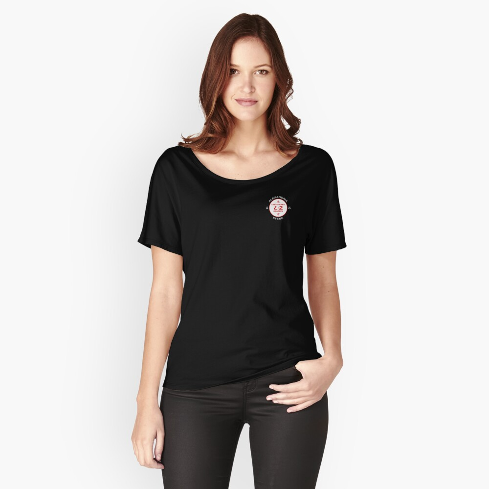 Black T-Shirt & 16 other types of clothing (Mathematorium) (M4ROW-WL-C) Women's Relaxed Fit T-Shirt Front