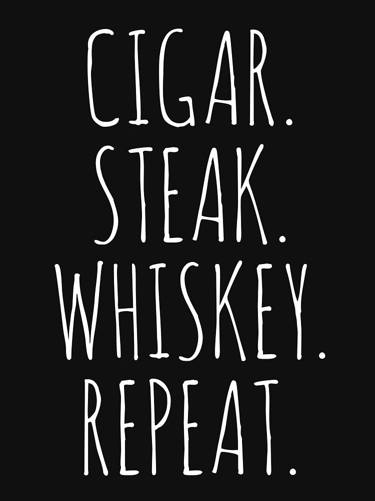 Steak whiskey cigars by 4tomic