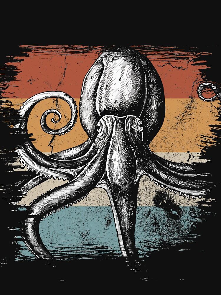 Octopus sea monster by GeschenkIdee