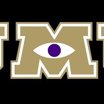 JMU / Monsters University Parody Logo - Gold and Black by obiwayne