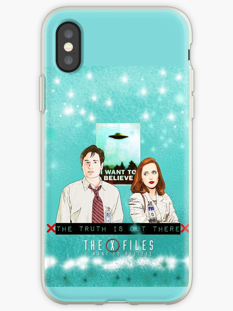 The X files Fox Mulder and Dana Scully The truth is out there cyan background  by MimieTrouvetou