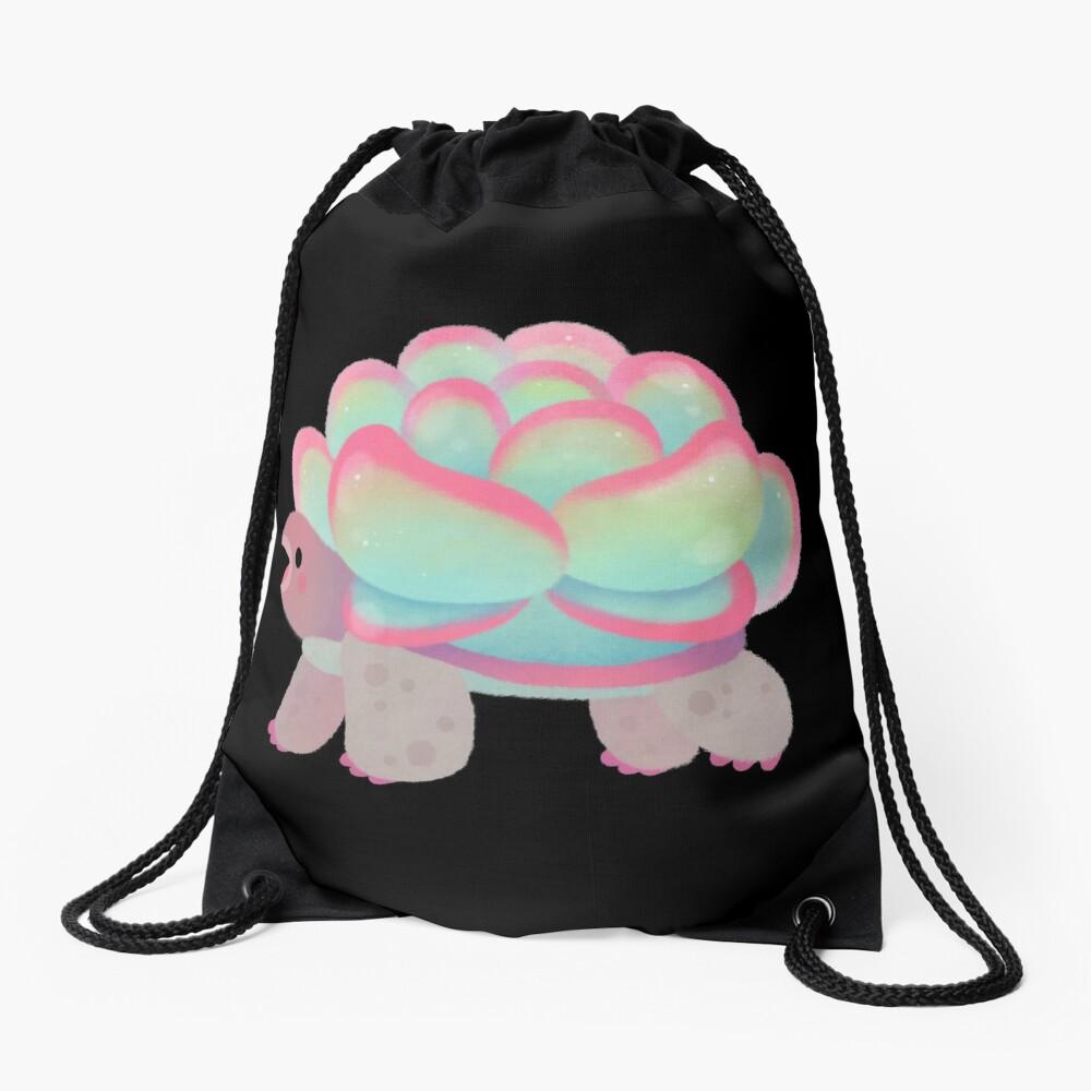 Cactus tortoise Drawstring Bag