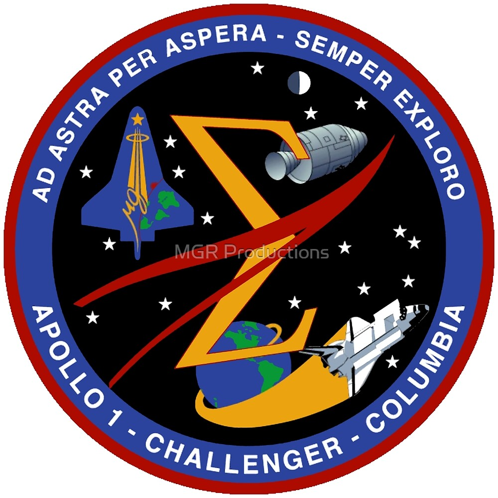 U. S. Space Flight Commemorative Patch by MGR Productions Nikki