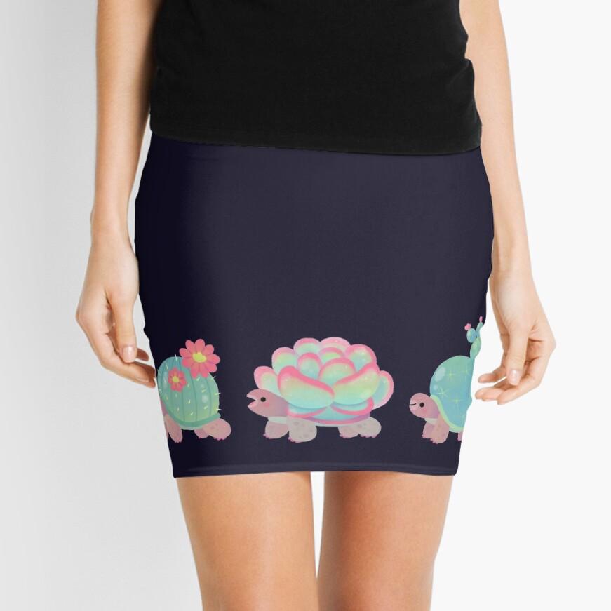 Cactus tortoise Mini Skirt