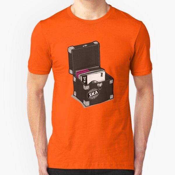 Retro Vinyl Record Box - Ska Slim Fit T-Shirt