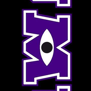 JMU / Monsters University Parody Logo - Vertical - Purple and Black by obiwayne