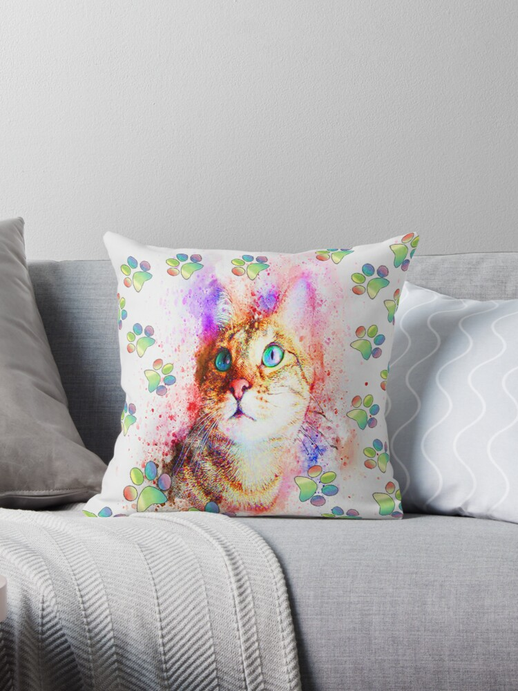 Cat Lover Gifts, Cat Lover Cat Mom Paw Print Gifts by tamdevo1