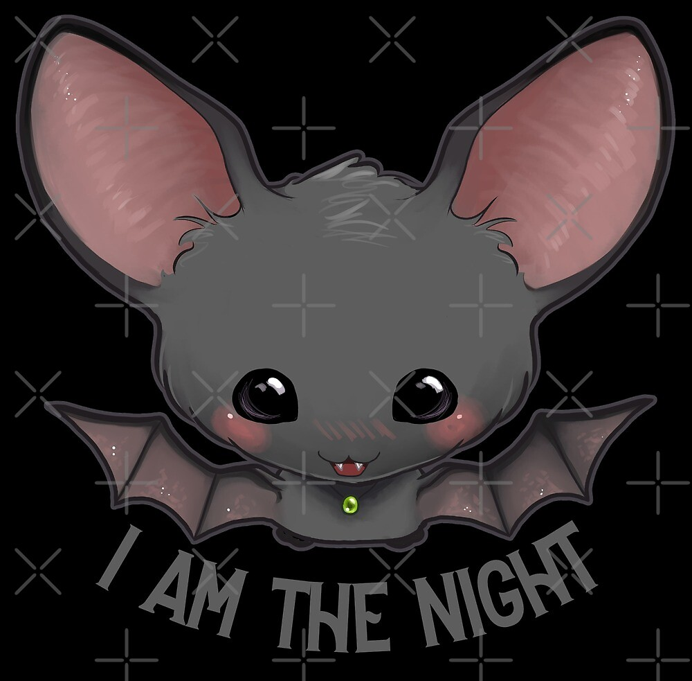 Kawaii Bat I am the night! by Lhiondaig