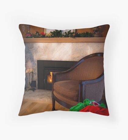 Missing You at Christmas. Throw Pillow
