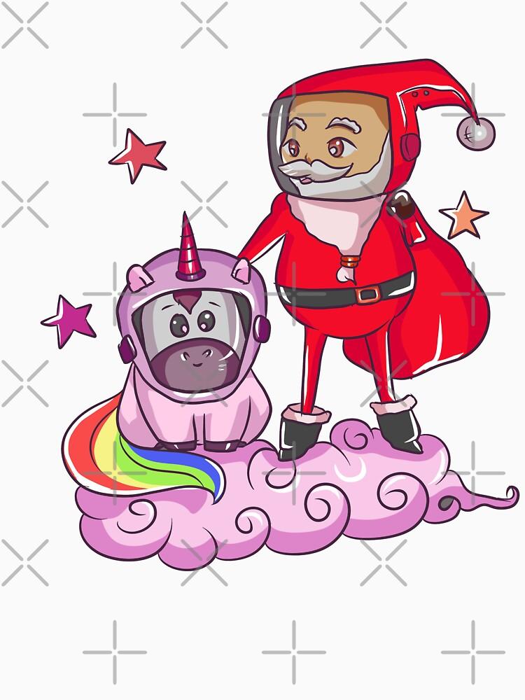 Santa Unicorn in Galaxy by rkhy