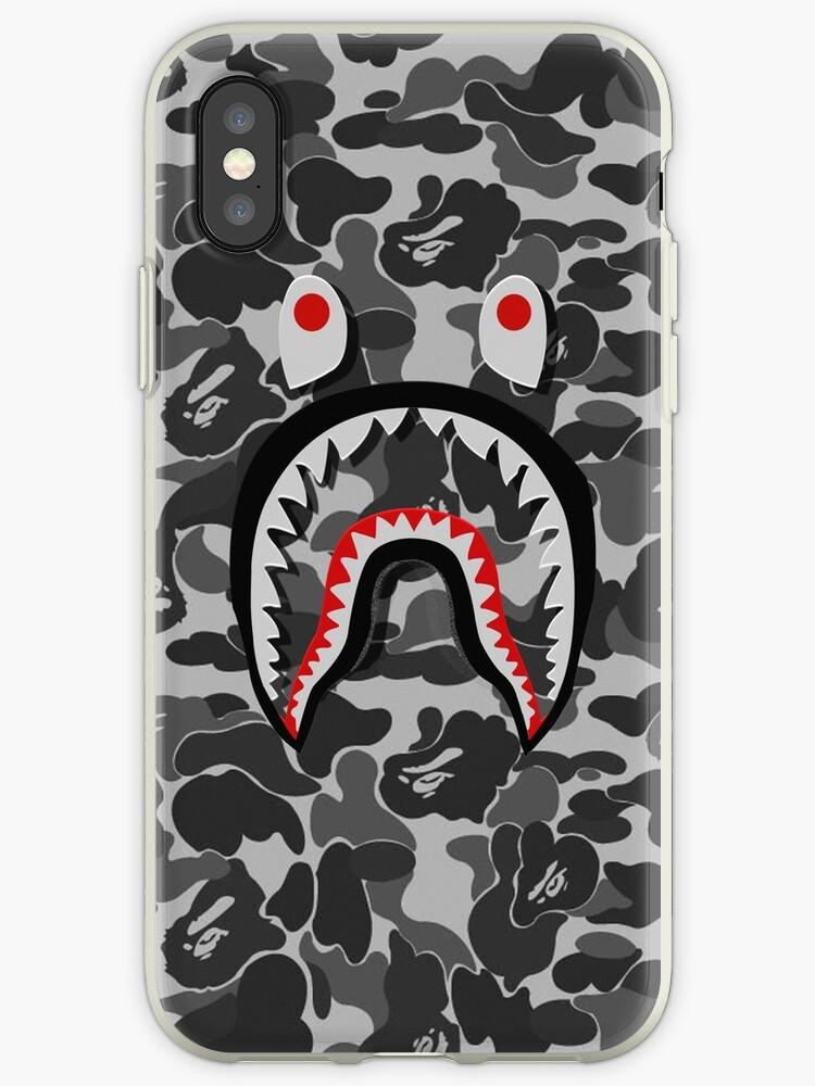 bape camo shark face by RhondaBlood