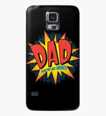 Comic Book Art -Dad You're my hero! Case/Skin for Samsung Galaxy