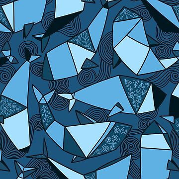 Origami whales pattern by kostolom3000