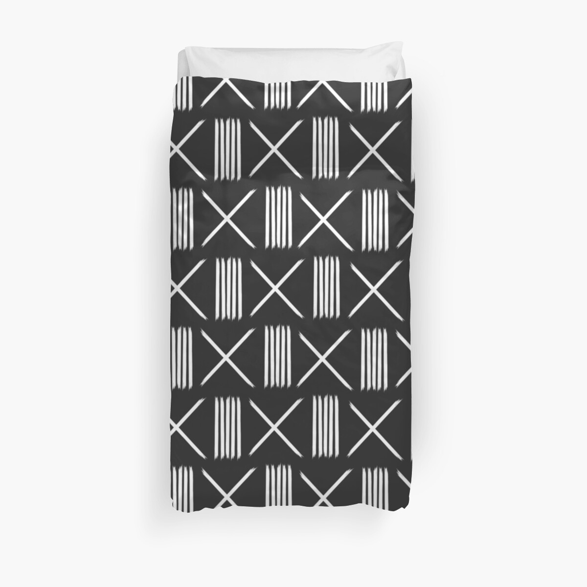 Mudcloth xs and lines black by hellcom