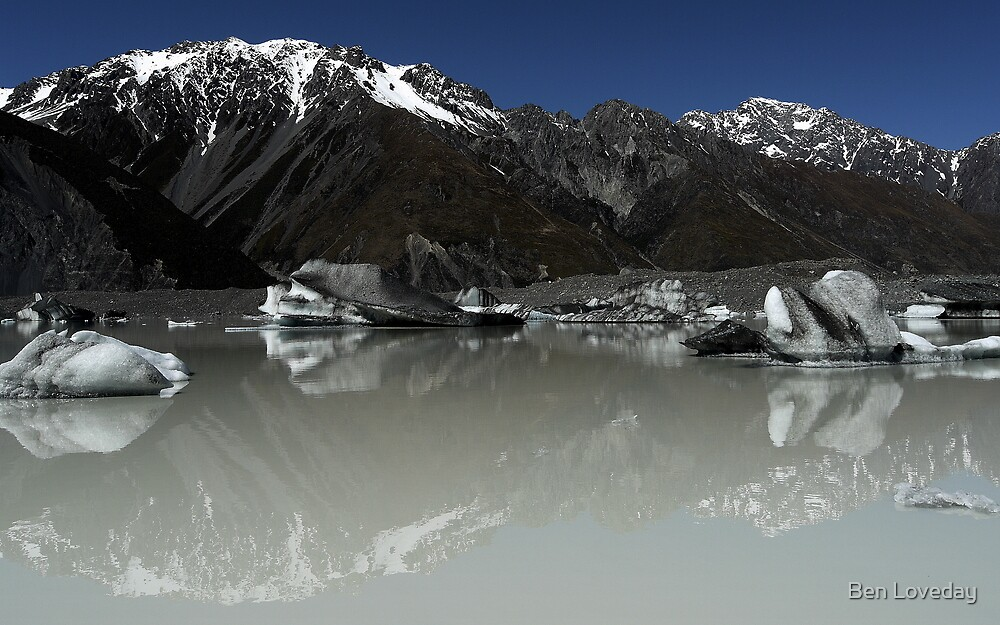 In the Hall of the Mountain King- Tasman Glacier Lake by Ben Loveday
