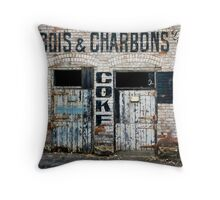 Old Coke Building-Abbotsford Throw Pillow