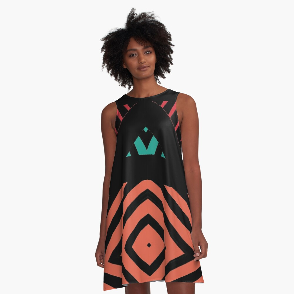 Sun has risen A-Line Dress Front