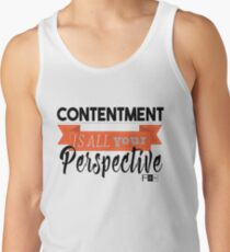Contentment is all Perspective Tank Top