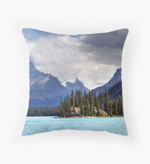 Spirit Island and Mountains Throw Pillow