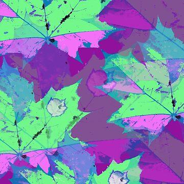 Lila zauber Blätter von RanitasArt