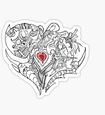 A Heart Full of Emotion Tee. Sticker