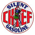 SILENT CHIEF GAS SIGN by Thomas Barker-Detwiler