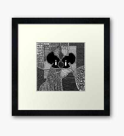 Myself and I Framed Print