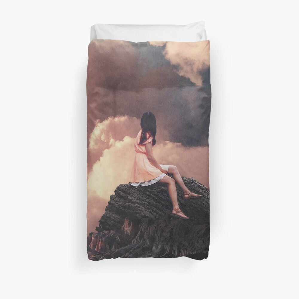 You came from the Clouds Duvet Cover