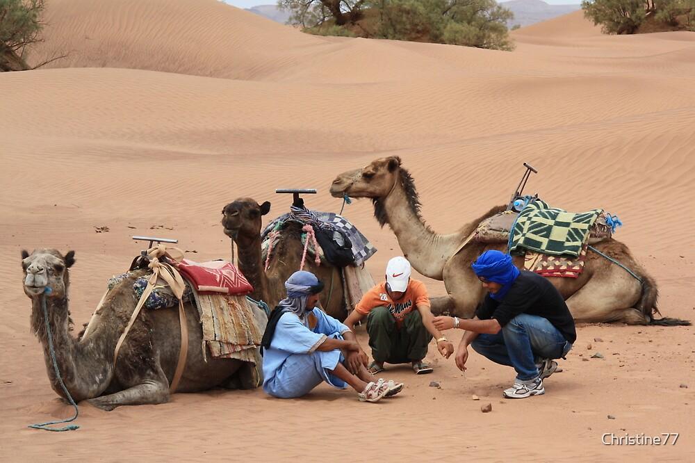 Three wise men (Sahara desert, Morocco) by Christine Oakley