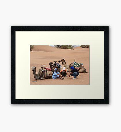 Three wise men (Sahara desert, Morocco) Framed Print