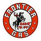 PORCENALIZED FRONTIER GAS SIGN by Thomas Barker-Detwiler