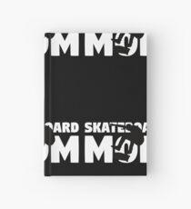 Skateboard Mom T-Shirt Skateboard Gift Mother Skateboard Silhouette Tee Hardcover Journal