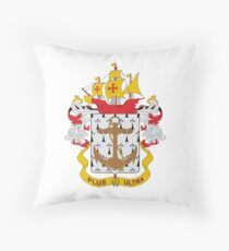 Coat of arms of the Colombian Navy Throw Pillow