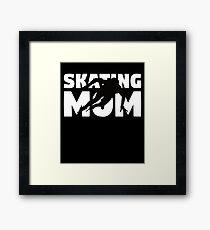 Skating Mom T-Shirt Skating Gift Mother Skating Silhouette Tee Framed Print